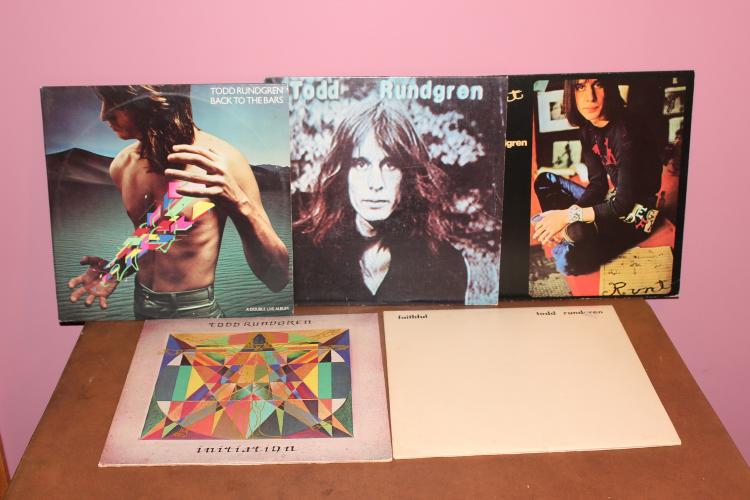 LOT OF 5 TODD RUNDEGEN LP'S GATE FOLD DOUBLE ALL ALBUMS IN ALL – IN VERY GOOD CONDITION