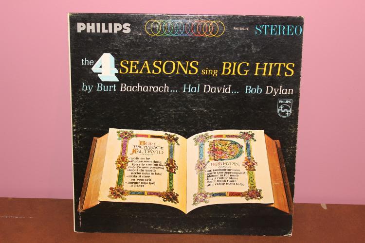 THE 4 SEASONS SING – BIG HITS – PHILIPS RECORDS 600-193 NEAR MINT