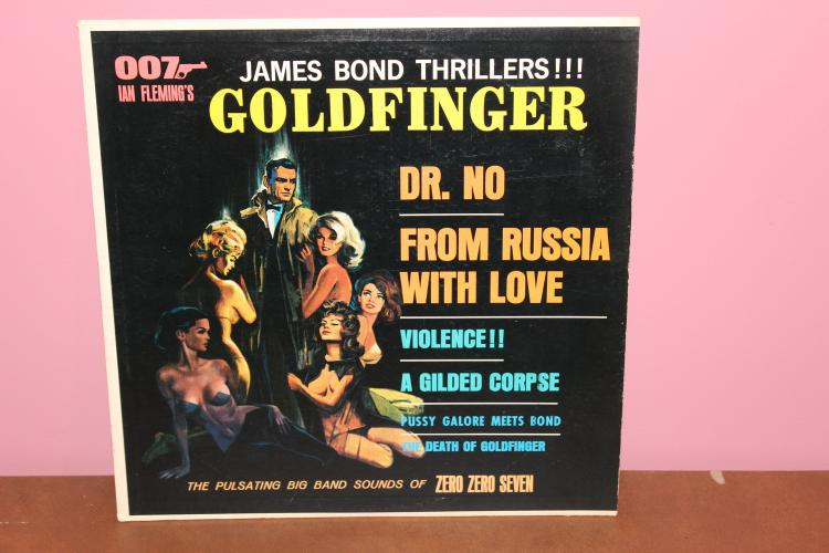 JAMES BOND THRILERS PERFORMED BY THE ZERO ZERO – SEVEN BAND- EXC. COND. STEREO FIDELITY SF 23200