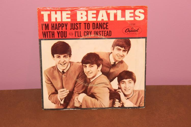 BEATLES HAPPY TO DANCE WITH YOU – CAPITAL 5234- FROM THE MOVIE HARD DAYS NIGHT – RECORDED IN ENGLAND – NEAR MINT