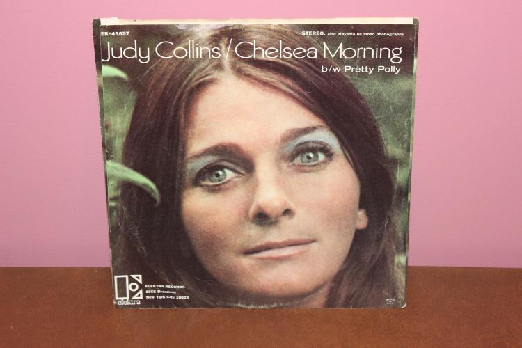 JUDY COLLINS – CHELSEA MORNING – ELEKTRA RECORDS EK45657A PICTURE SLEEVE NEAR MINT