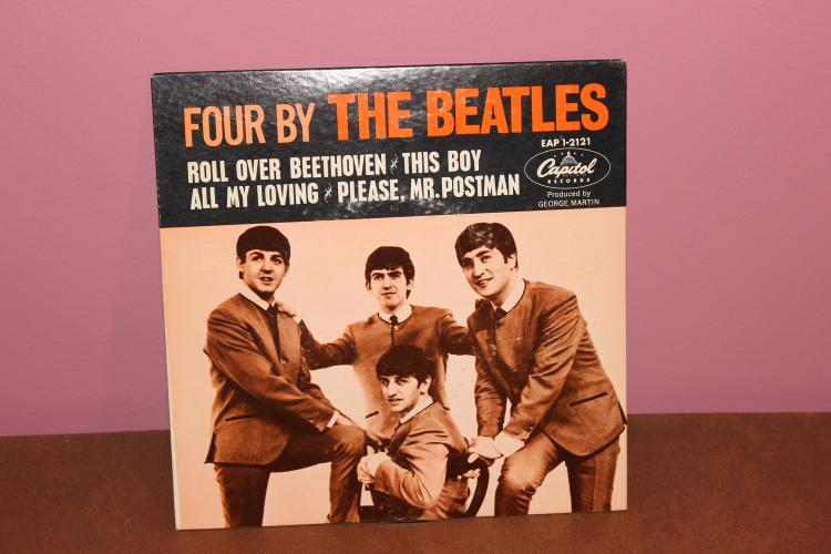 4 BY THE BEATLES 1st PRESSING EPA 1-2121 NEAR MINT RECORDED IN ENGLAND – NEAR MINT SUPER CARDBOARD SLEEVE