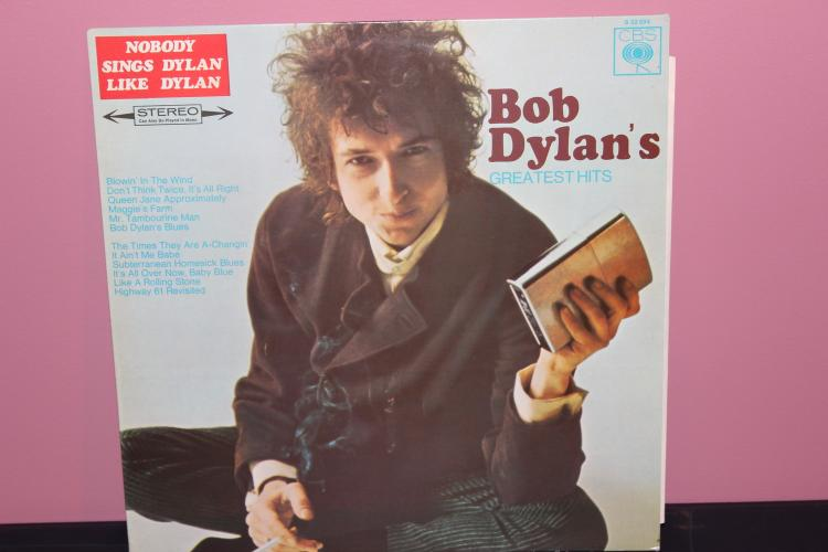 BOB DYLANS GREATEST HITS 1967 CBS S62-694 MADE IN HOLLAND NEAR MIT