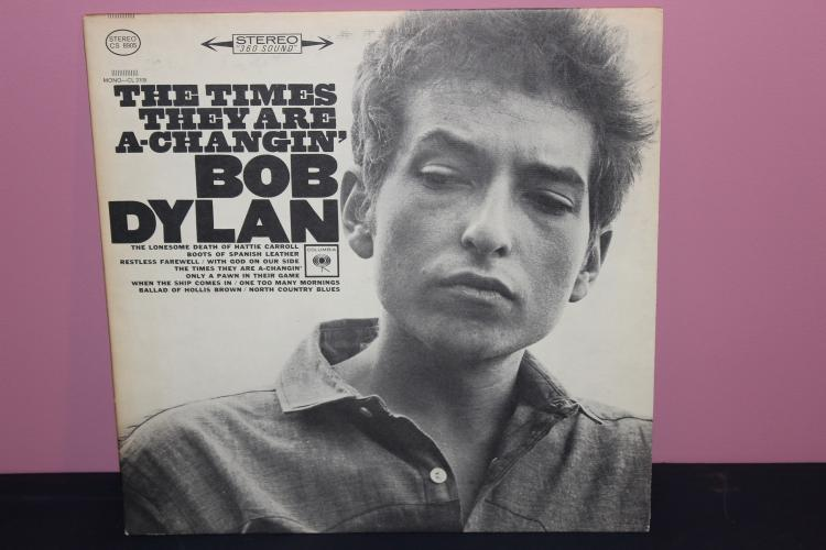 DYLAN – THE TIMES ARE A CHANGING – COLUMBIA -CS 8905 1964 NEAR MINT