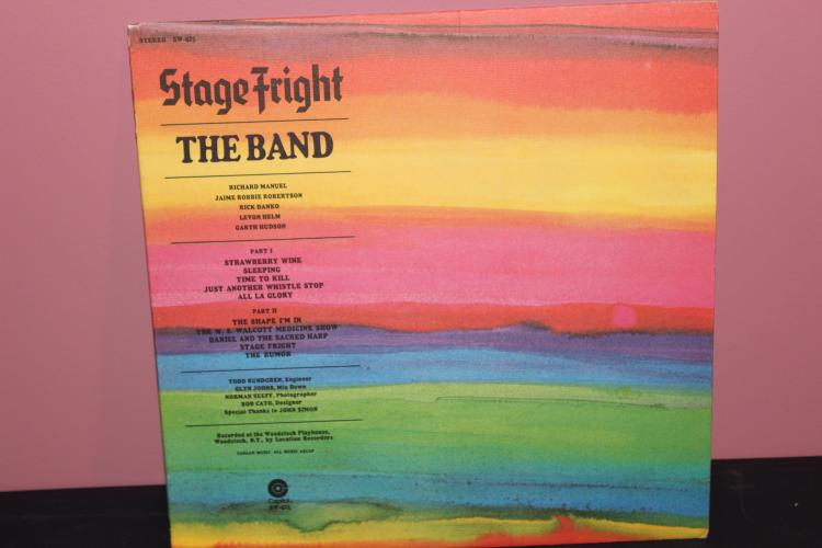 STAGE FRIGHT THE BAND RCORDED AT THE WOOD STOCK PLATHOUSE CAPITAL RECORDS SIGNED BY BOB CATO