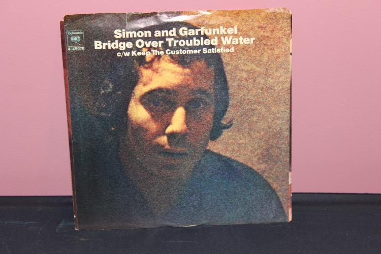 SIMON AND GARFUKEL – BRIDGE OVER TROUBLED WATER – COLUMBIA 4-45079 ORIG. GOOD CONDITION