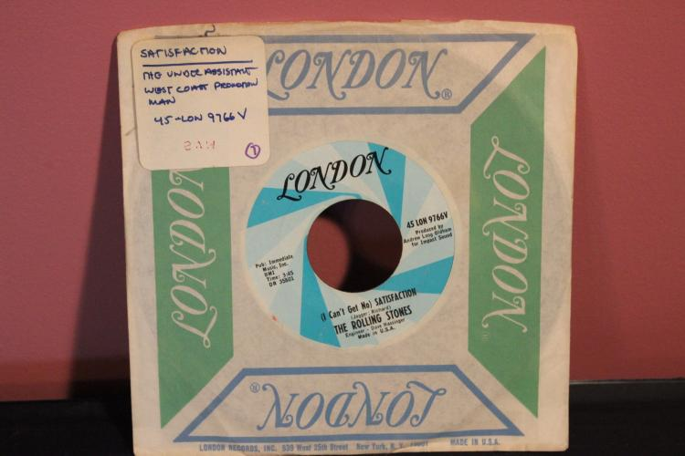 ROLLING STONES LONDON 45 LON 9766V NO SATISFACTION EXC. COND.