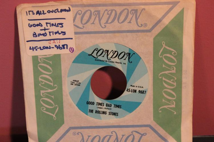 ROLLING STONES LONDON RECORDS IT'S ALL OVER NOW 45 LON 9687 NEAR MINT