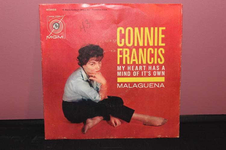 CONNIE FRANCIS 45 MGM RECORDS K12923 NEAR MINT COND.