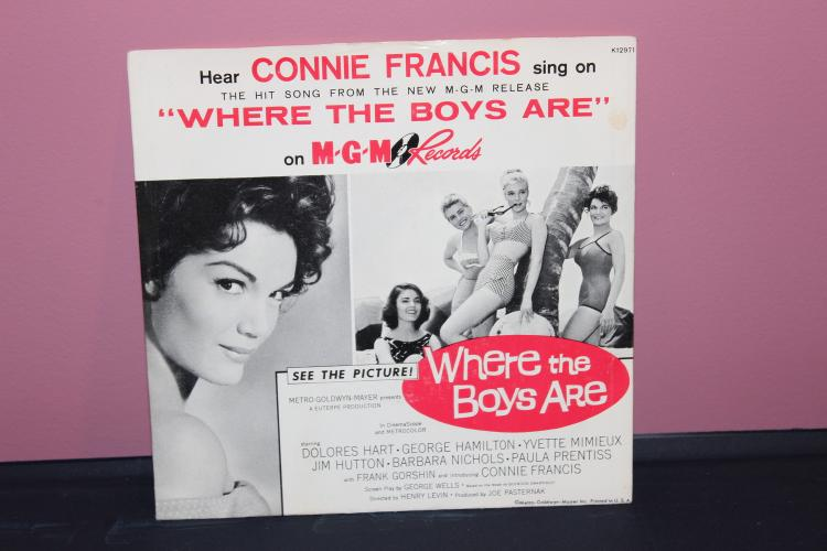 CONNIE FRANCIS WHERE THE BOYS ARE MGM RECORDS THEME FROM THE MOVIE  K 12971 NEAR MINT