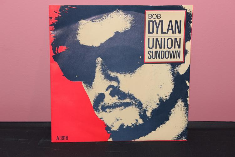 BOB DYLAN 1983 45 CBS RECORDS A-3916 UNION SUNDOWN NEAR MINT