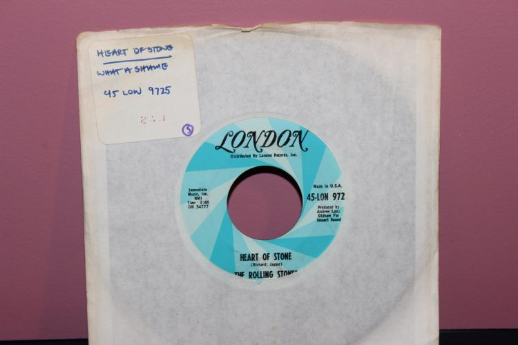 ROLLING STONES – HEART OF STONE – LONDON RECORDS LON 45- 9725 NEAR MINT