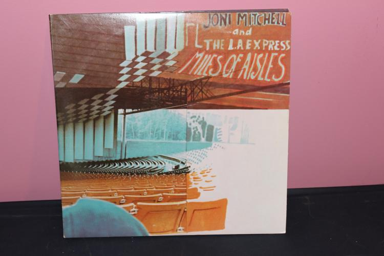 JONI MITCHELL AND THE L.A. EXPRESS – MILES OF OF AISLES – ASYLUM RECORDS 1972 DOUBLE ALBUM NEAR MINT