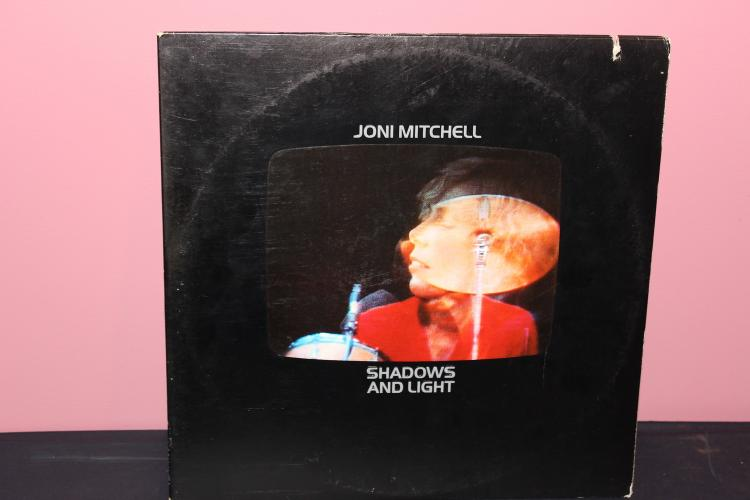 JONI MITCHELL AND LIGHT L.P. MINT- COVER HAS DAMAGE 1980 ASYLUM RECORDS BB704 1980
