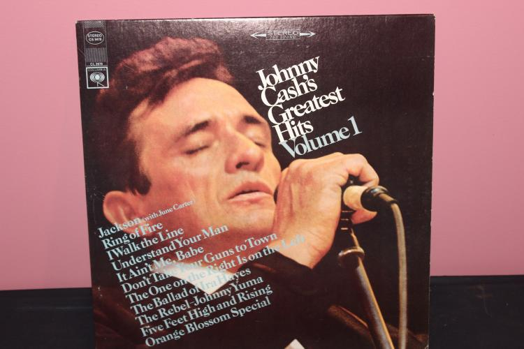 JOHNNY CASH GREATEST HITS VOL. 1 COLUMBIA CL 2678 NEAR MINT