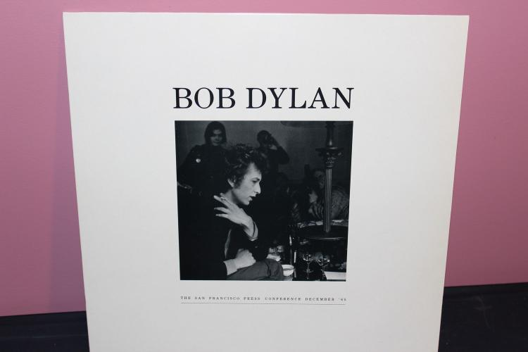 RARE DYLAN SAN FRANCISCO PRESS CONFERENCE DE. 1965- AMAZING PHOTO ON L.P. NO MUSIC ONLY TALK MADE IN U.K.NEW MINT