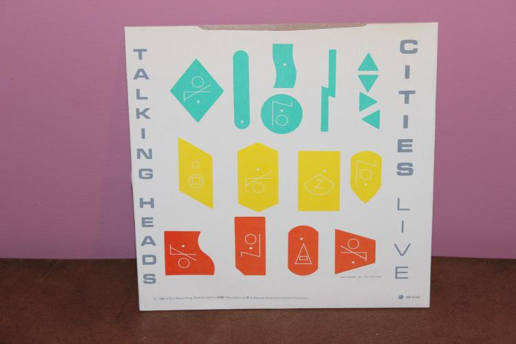 TALKING HEADS – CITIES – SIRE RECORDS 4040 CARDBOARD SLEEVE LIVE & STUDIO VERSIONS NEAR MINT