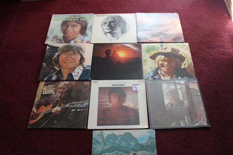 LOT OF 10 JOHN DENVER LP ALBUMS - ALL GOOD PLAYABLE COND