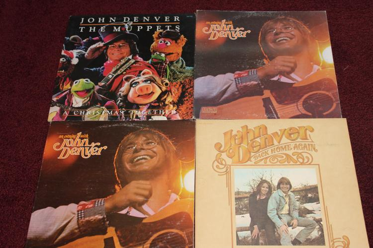 4 JOHN DENVER GATEFOLD ALBUMS - ALL GOOD PLAYABLE