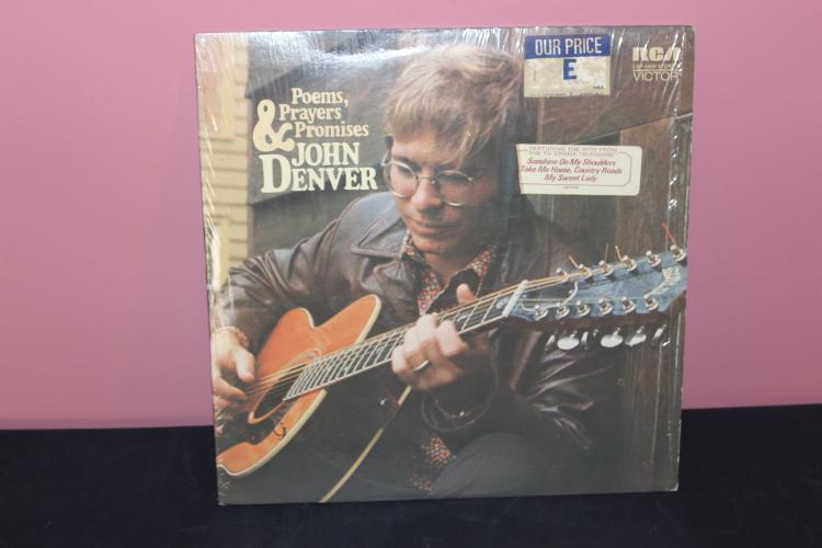 JOHN DENVER LP - POEMS, ORIG. STORE WRAPPER - LIKE NEW