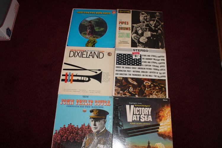 SUPER SELECTION OF 6 U.S. & SCOTLAND COUNTRYSIDE MUSIC ALBUMS IN VERY GOOD COND