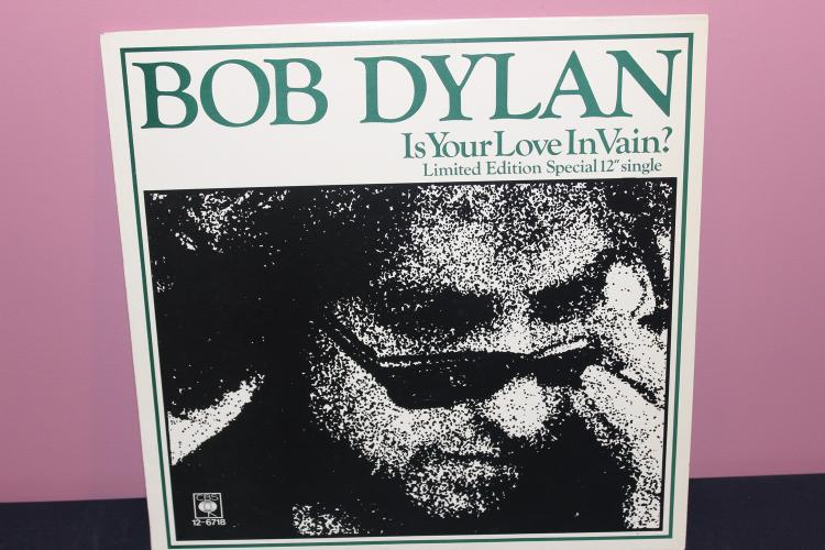 DYLAN IS YOUR LOVE IN VAIN - LIMITED EDITION 1978 CBS RECORDS 126718 - MADE IN ENGLAND - LIKE NEW
