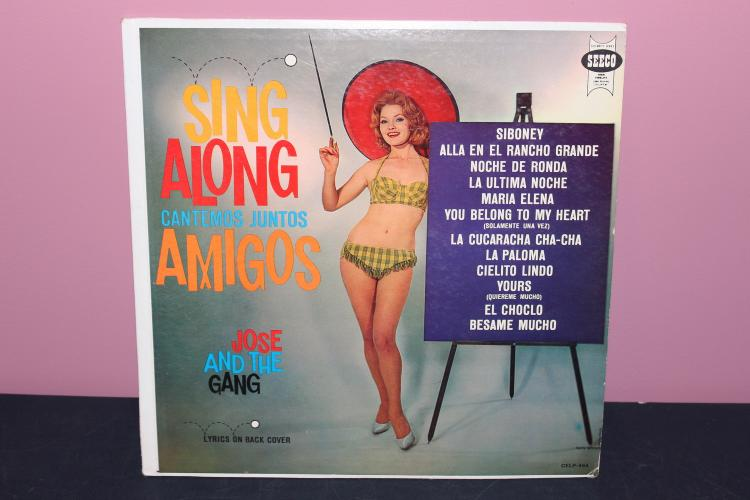 SING ALONG WITH JOSE AND THE GANG - SEECO RECORDS CELP464 - VERY GOOD COND.