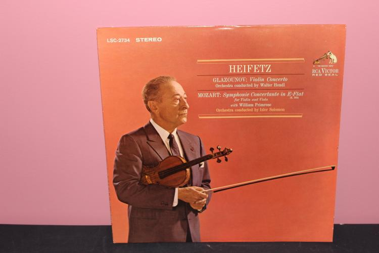 HEIFETZ GLAZOUNOV - VIOLIN CONCERTO 1964 RCA - LIKE NEW