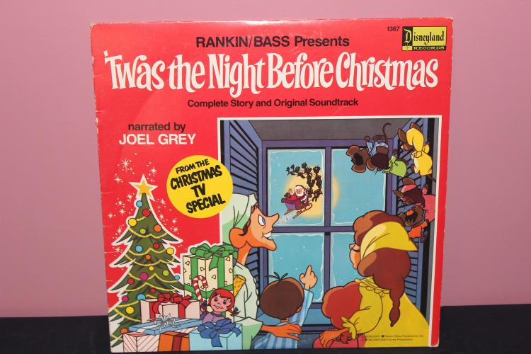 NIGHT BEFORE XMAS DISNEYLAND RECORDS 1976 - LIKE NEW LP