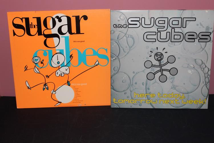 2 ALBUM LOT - THE SUGAR CUBES - LIFES TOO GOOD 1988 - HERE TODAY TOMORROW NEST WEEK 1989 - NEAR MINT