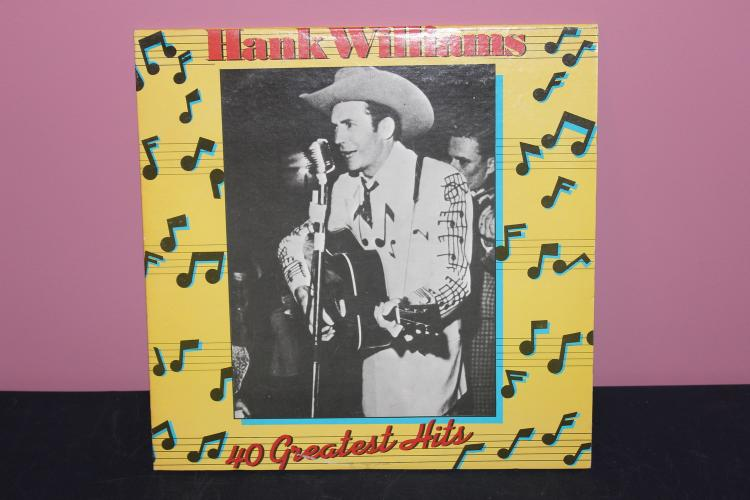 HANK WILLIAMS 4 GREATEST 1978 POLYGRAM RECORDS - DOUBLE L.P. GATEFOLD - LIKE NEW