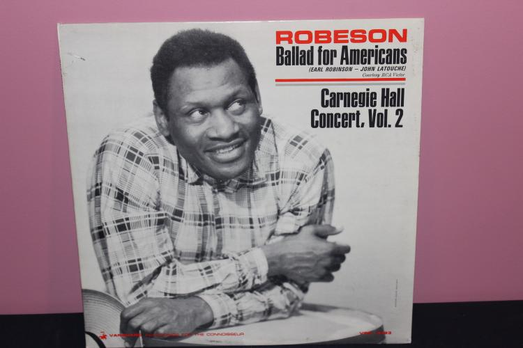 BALLARD FOR AMERICANS - EARL ROBESON 1965 - VANGUARD RECORDS - LIKE NEW
