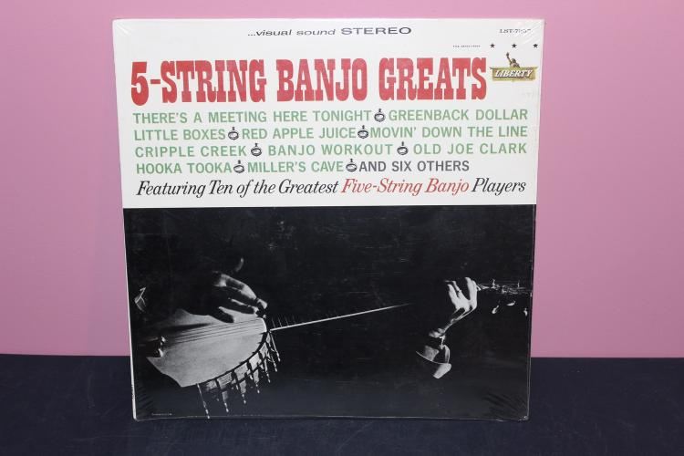 BANJO GREATS NEW UNOPENED LIBERTY RECORDS 7357 L.P.