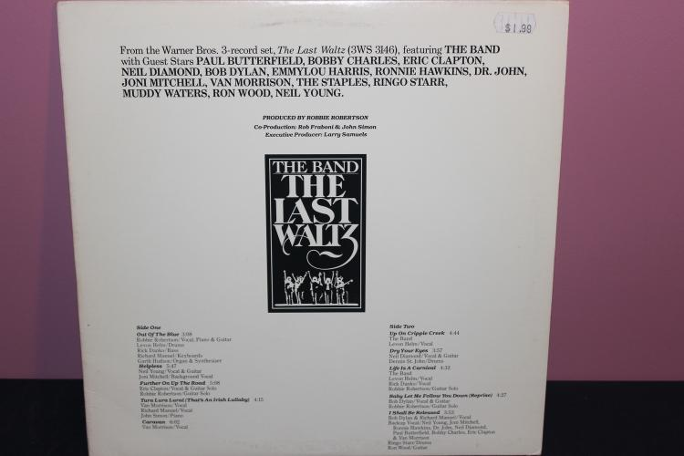 NOT FOR SALE PROMOTIONAL COPY ONLY - THE BAND - LAST WALTZ 1978 WARNER BROS - SEVERAL GUESTS - NEAR MINT
