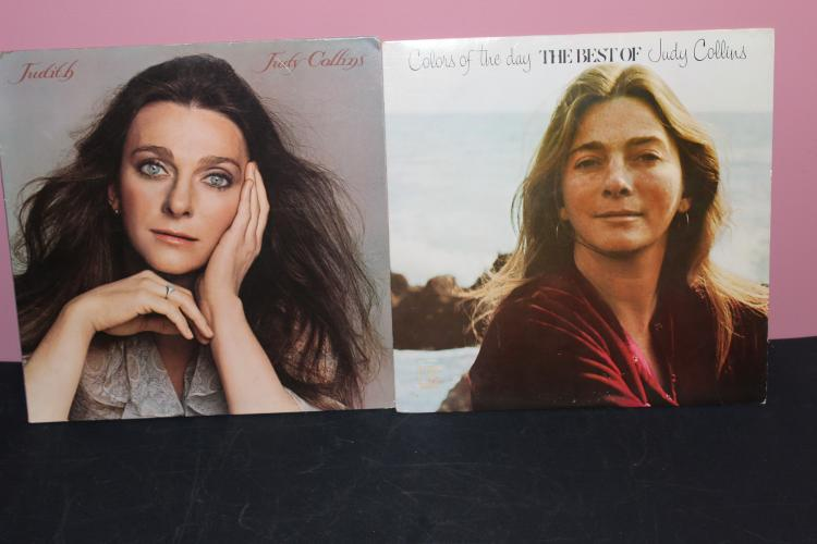 2 RECORDS LOT - JUDY COLLINS - THE BEST 1972 JUDITH 1975 BOTH LIKE NEW ELEKTRA