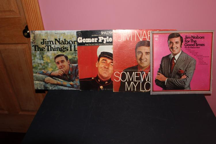 4 RECORD LOT JIM NABORS - ALL LP IN LIKE NEW - 3 COLUMBIA - 1 HEADLINER SERIES - COLUMBIA