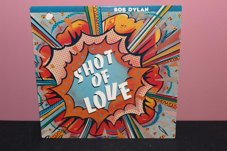DYLAN SHOT OF LOVE - CBS RECORDS 1981 - RONGO STARR ON DRUMS & TOM TOM - LIKE NEW