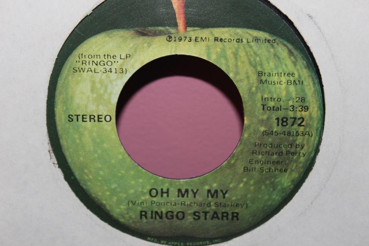 RINGO STARR 1973 EMI RECORD LIMITED APPLE RECORDS VERY GOOD CONDITION