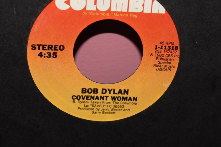 DYLAN COVENANT WOMAN 1980- COLUMBI 111318 LIKE NEW