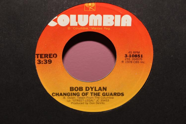 DYLAN – CHANGING OF THE GUARD 1978- COLUMBIA 310851 LIKE NEW