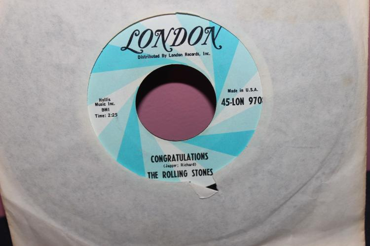 ROLLING STONES LONDON RECORDS 45-LON970 HOLLIS MISIC INC. NEAR MINT