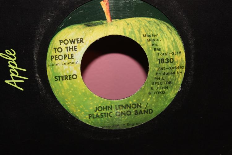 POWER TO THE PEOPLE JOHN & YOKO PLASTIC BAND – APPLE RECORDS 1830 RECORDED IN ENGLAND LIKE NEW