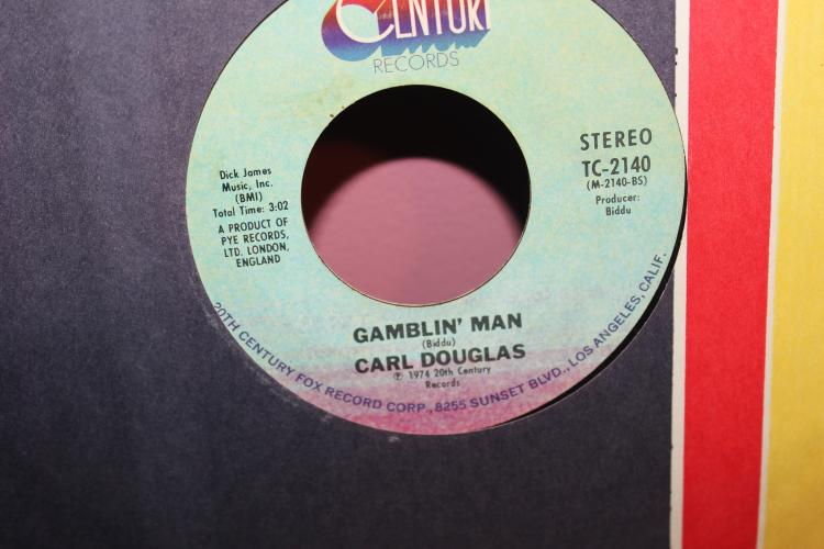 CARL DOUGLAS KUNG FU FIGHTING 20TH CENTURY FOX RECORDS TC 2140 RECORDED IN LONDON GOOD COND.