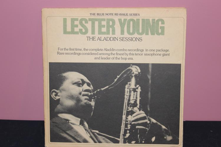 BLUE NOTE RE ISSUE SERIES LESTER YOUNG – THE ALADDIN SESSION DOUBLE FOLDER ALBUM 1975 UNITED ARTIST VERY GOOD COND.