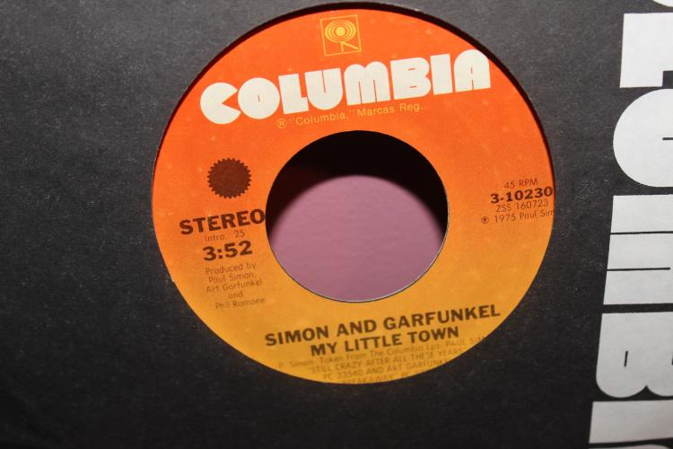 SIMON AND GARFUNKEL MY LITTLE TOWN COLUMBIA 3- 10230145RPM GOOD PLAYABLE