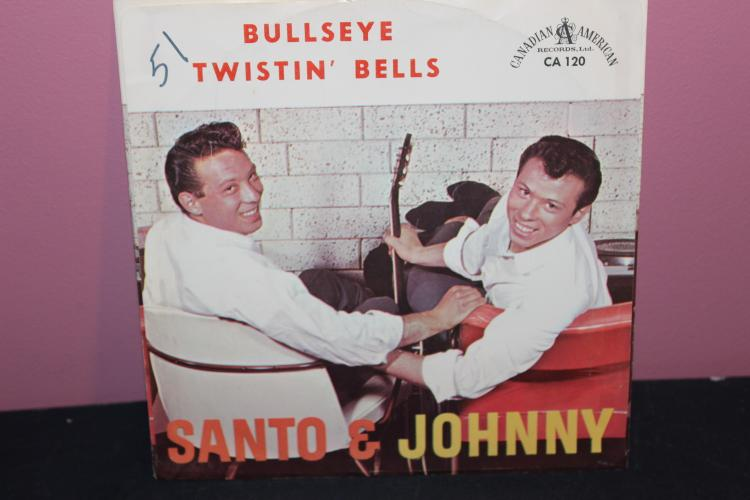 SANTO & JOHNNY 45 CANADIAN AMERICAN RECORDS CA 120 VERY GOOD COND.