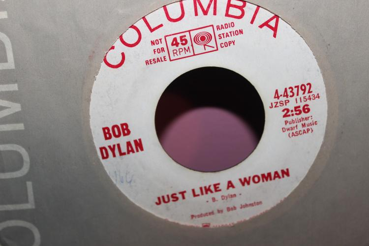 COLUMBIA BOB DYLAN 4-43792 JZSP 115435 OBVIOUSLY 5 BELIEVERS 45 RPM