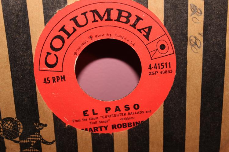 MARTY ROBBINS 45RPM EL-PA SO VERY GOOD CONDITION