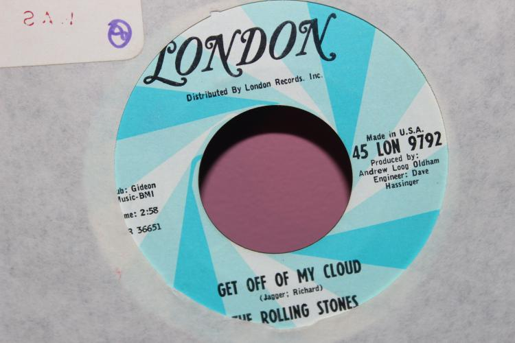STONES GET OFF MY CLOUD LIKE NEW – LONDON 45- 9792