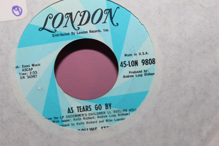 STONES AS TEARS GO BY LONDON 45- 9808 LIKE NEW